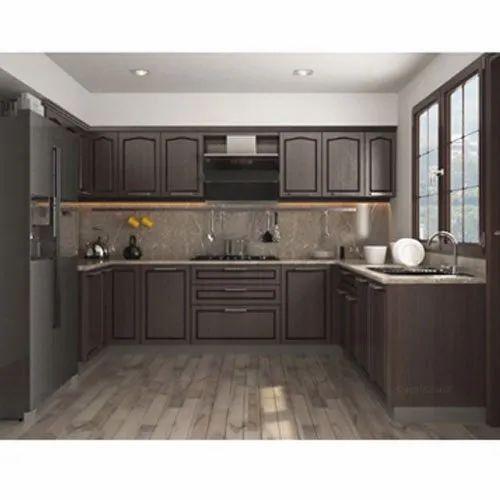 Pvc Designer U Shape Modular Kitchen Kitchen Cabinets Rs 1250 Square Feet Id 20466338533