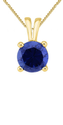 Natural Blue Sapphire Stone Pendant