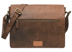 Unisex Leather Muskat Hunter Crossbody Messenger Bag