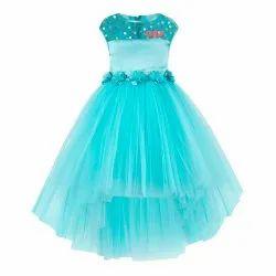 Sky Blue 2-3 Years To 11-12 Years Kids Wear Dresses