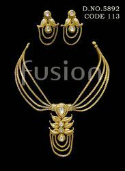 Polki Designer Trendy Traditional Necklace Set