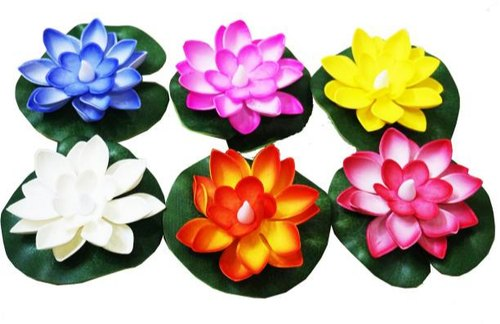 Artificial Floating Foam Lotus Flowers, Realistic Water Lily Pads, Vibrant Color