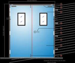 Hollow Metal Doors, Thickness: 46 mm