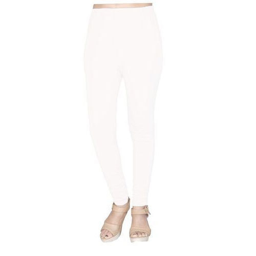Havana Cotton Ladies White Stretchable Plain Leggings