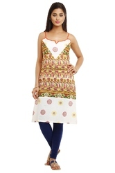 Multicolor Cotton Elegant Sleeveless Kurti