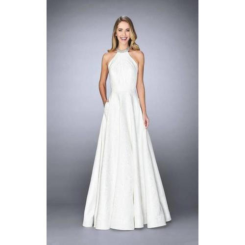 White Medium , Small Halter Neck Wedding Gown, Rs 3000 /piece   ID ...
