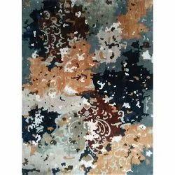 Printed Rectangular Handmade Carpets, Size: 5 X 7 Feet