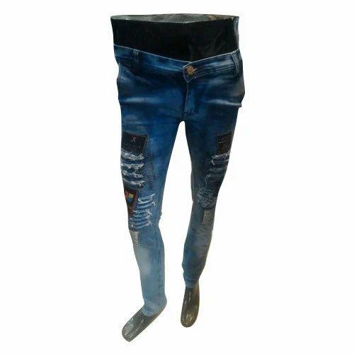 ce23c54955 Mens Casual Wear Faded Blue Jeans