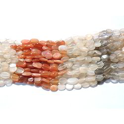 Multi Moonstone Smooth Gemstone Beads
