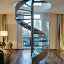 Glass Spiral Staircase
