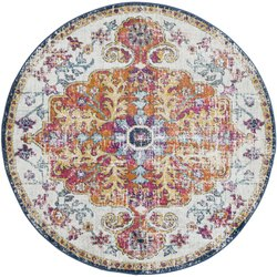 Multicolor Non-slip, Anti-slip Modern Area Cotton Carpet Washable Rugs Carpets For Living Room, For Floor, Size: 150x150 Cms