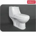 White Round Somany Obika - S Trap One Piece Toilets