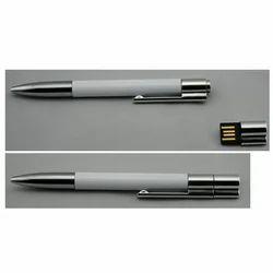 Plastic Black Slim Pen with Pen Drive