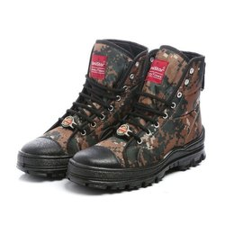 Mens Anti Skid Cobra Print High Ankle Jungle Boots