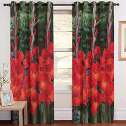 Flowery Digital Curtain