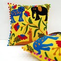 Hand Embroidered Cushion Cover