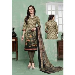 Cotton 44-45 Digital Printed Ladies Suit, Machine wash