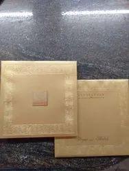 Cardboard Book Style Designer Wedding Card