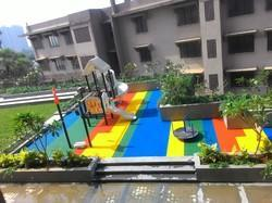 Arihant Playtime - Theme Rectangles Rubber Flooring