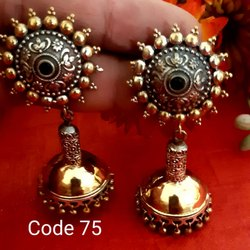 Sipani Zinc And Alloy Iron Golden Ladies Earring
