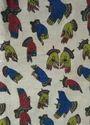 Multicolor Mudra Print Kalamkari Kurti Fabric