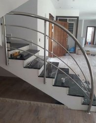 Bar Balcony Stainless Steel Staircase Railing, for Home