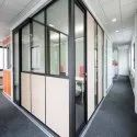 Hinged Aluminium Office Partition