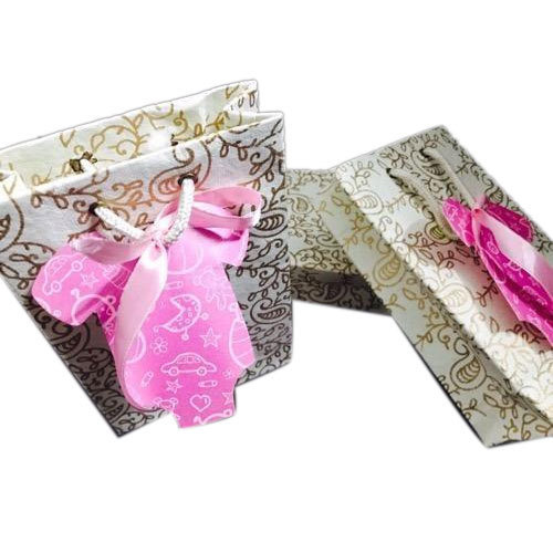 Multicolor Female Baby Announcement Bags