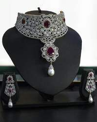 Natural Vvs Fg Diamond Polki Necklace Set