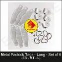 Metal Long Padlock Tags
