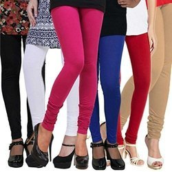 Real Dream Ladies Churidar Plain Leggings, Size: S-XXL