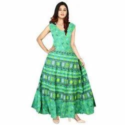 Printed Midi Ladies Dress