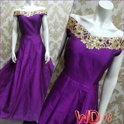 Sagan , Party Embroidered SILK PARTY GOWNS W-08