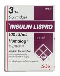 Insulin Lispro 100 IU/ml Humalog Injection