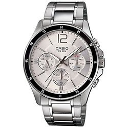Casio Enticer Chronograph White Dial Mens Watch