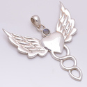 Angel Wing Labradorite 925 Sterling Silver Pendant