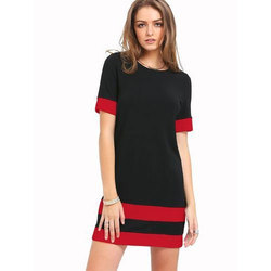 Girls Half Sleeves Casual Long Top, Size: S-XL