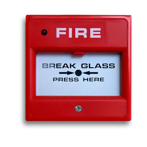 Break Glass Fire Alarm आग अलार्म Sri Tech Security