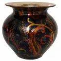 Round Copper Printed Designer Lota, Capacity: 450ml