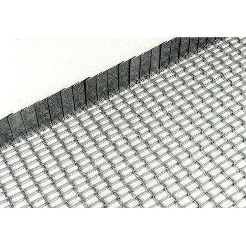 SS304 Wire Mesh Belt With Side Gaurd, Rs 500 /square feet, Shiv ...