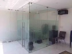 Double Connector Glass Partition