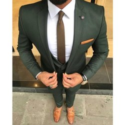 Imported Fabric Party Wear Mens Green Wedding Suits