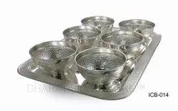 Pure Silver Pudding Set