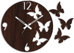 Anva Promotional Gift Wooden Checkered Wall Clock for Home/Kitchen/Living Room/Bedroom