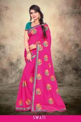 Right One Fashion Swati Stylish Party Wear Jeni Saree
