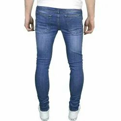 Rufaro Slim Fit Mens Denim Casual Blue Jeans, Waist Size: 36, Stretch Type: Stretchable