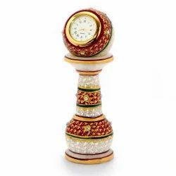 Meenakari Work Marble Pillar Watch 373