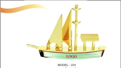 Brass Desktop Ship Showpiece