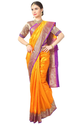 Orange Women Fancy South Pure Silk Saree