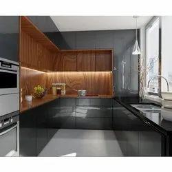 Wooden Acrylic Modular Kitchen